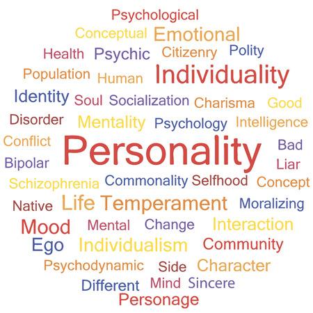electors: Personality. Psychological creative words conceptual tag cloud vector.