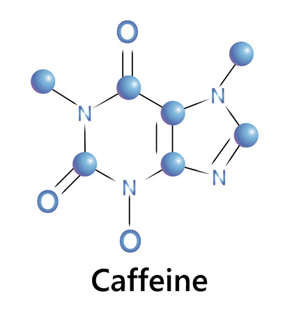 Caffeine chemical molecule structure. A ector illustration. Stock Vector - 29785859