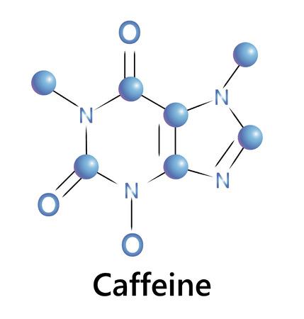 caffeine: Caffeine chemical molecule structure. A ector illustration. Illustration