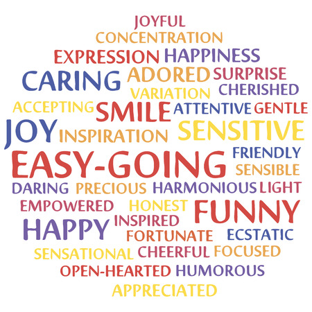 easygoing: easy-going word cloud concept. Vector illustration. Illustration