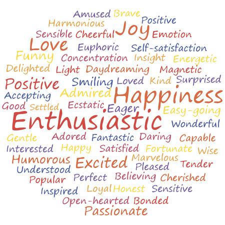 enthusiastic: enthusiastic word cloud concept. Vector illustration.