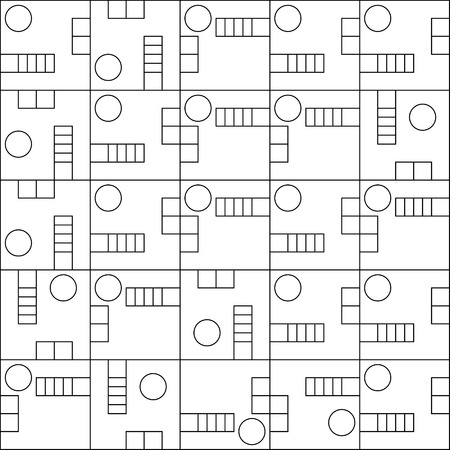 capacitor: Part of an electronic circuit scheme pattern, vector. Illustration