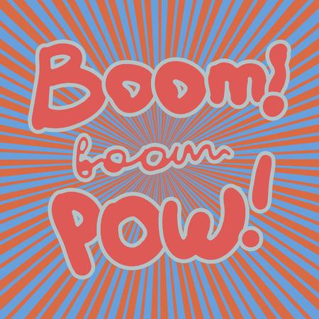 pow: Boom, boom, pow, retro comics poster. Vector illustration.