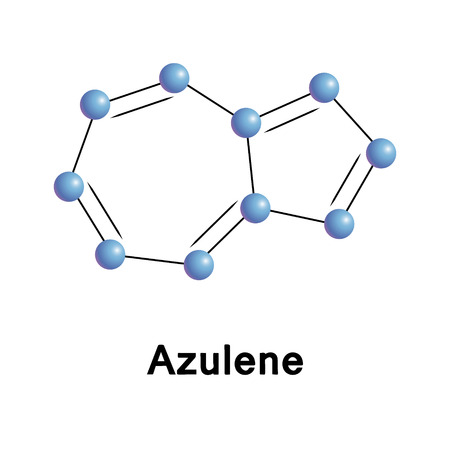 chemical compound: Azulene chemical compound moleccular structure. Vector illustration.