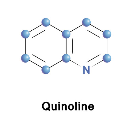 precursor: Quinoline chemical compound moleccular structure. Vector illustration. Illustration