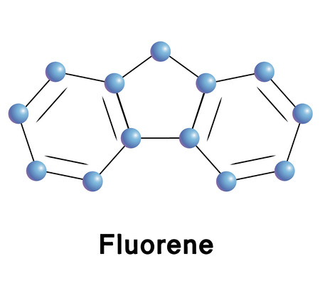 chemical compound: Fluorene chemical compound moleccular structure. Vector illustration. Illustration