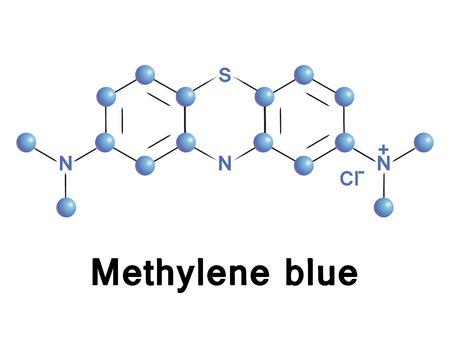 Methylene blue chemical compound molecular structure. Vector illustration.