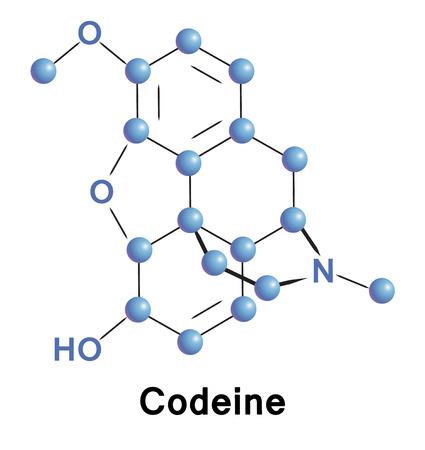 chemical compound: Codeine chemical compound molecular structure. Vector illustration. Illustration