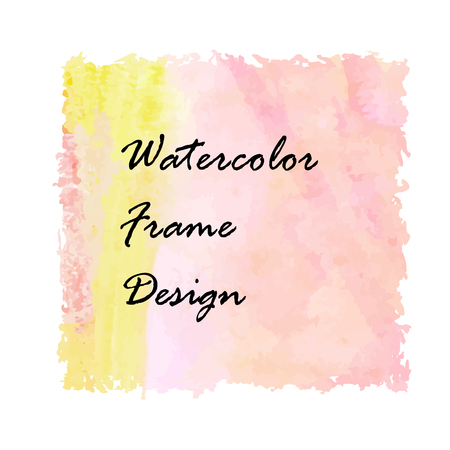Watercolor frame design. Made in a vector. Illustration