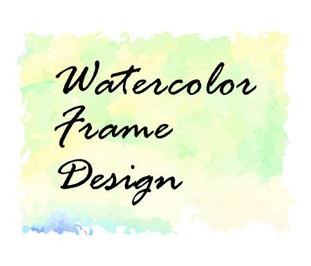 quadrant: Watercolor frame design. Made in a vector. Illustration