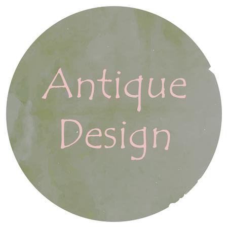 quadrant: old painting circle frame design Illustration