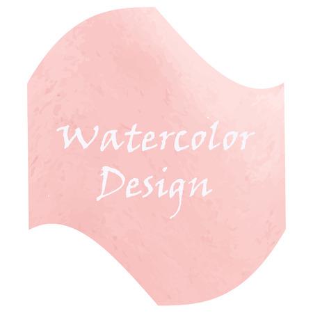 quadrant: watercolor pale pink design Illustration