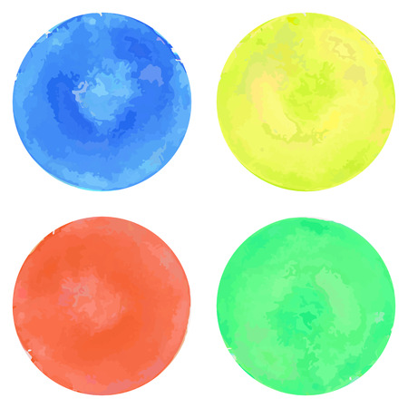 Watercolor circles set Illustration