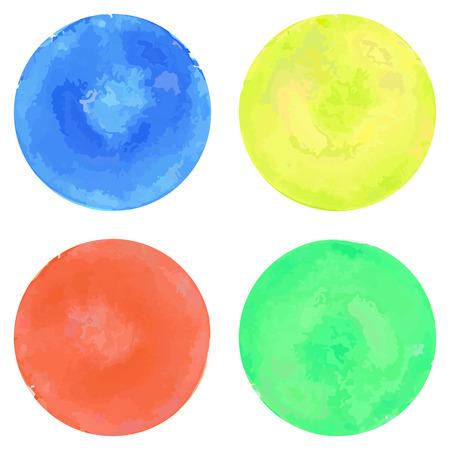 Watercolor circles set Иллюстрация
