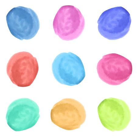 eyeliner: Set of different eyeliner color. Watercolor illustration made in vector. Illustration