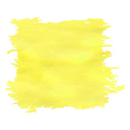 大まかなエッジを持つ黄色の水彩バナー。  イラスト・ベクター素材