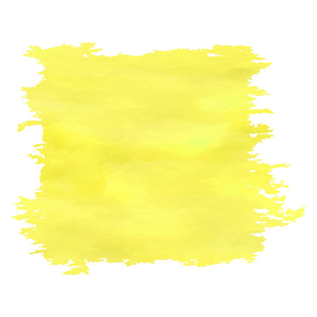 Yellow watercolor banner with rough edges.