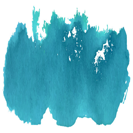 tempera: Marine blue watercolor abstract vector background Illustration