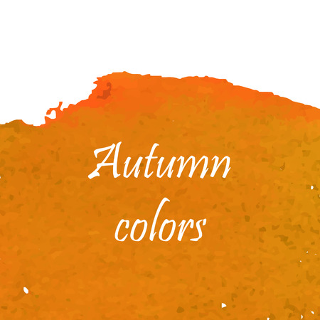 gold dust: Watercolor art dust texture for background in orange and gold colors Illustration