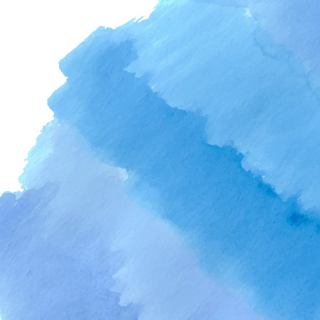 Blue sea waves watercolor design background. Illustration made in vector. Ilustração