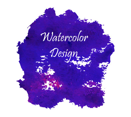 ink art: Violet and deep blue watercolor abstract ink art design. Illustration made in vector. Illustration