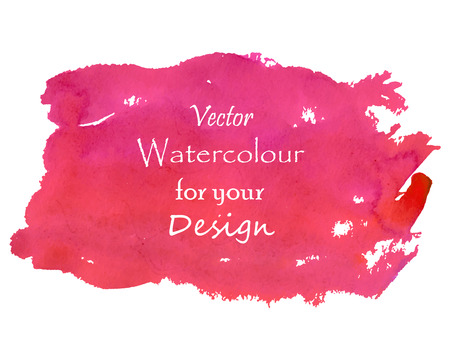 Isolated pinky red watercolour background design. Illustration made in vector.