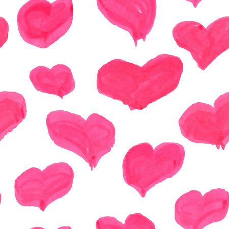 pinky: Watercolor pinky hearts