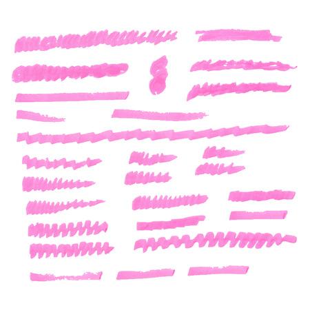 ink brush set Vector