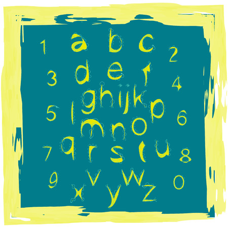 Handwritten cute letters Vector