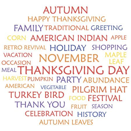 happy thanksgiving: Happy Thanksgiving Day Illustration