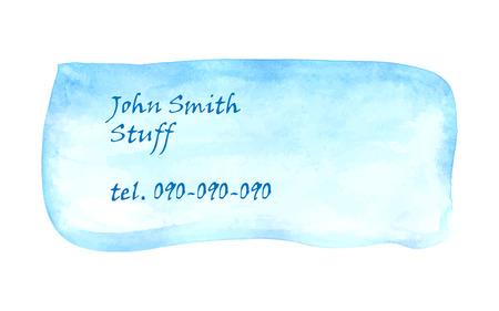 carta identit�: carta d'identit� acquerello.