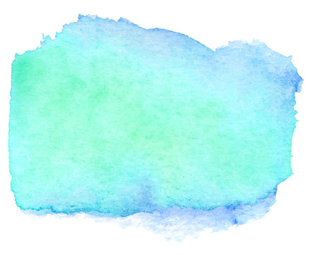 Watercolor teal banner Фото со стока - 32559415