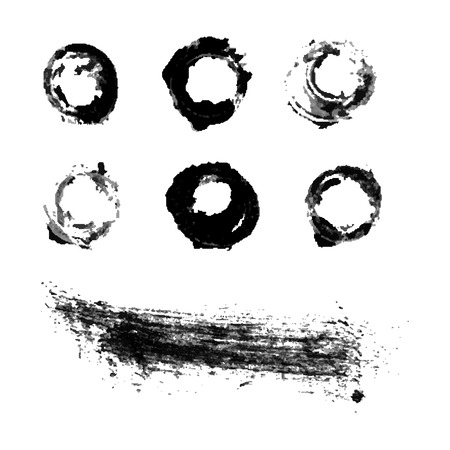 Water colour black ink brush set