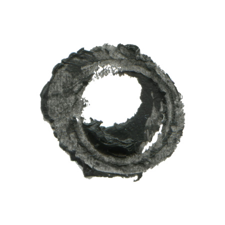 Indian ink circle, watercolor background for your design. Illustration made in vector. Vector