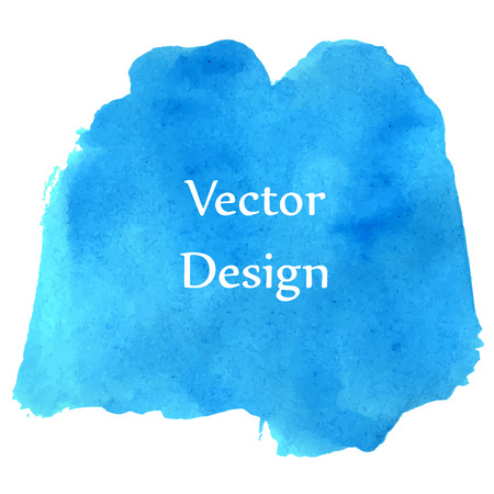 Ocean blue watercolor Ilustração