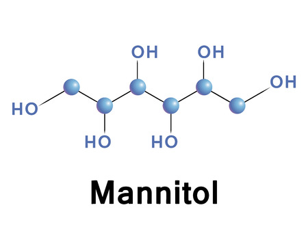 fibrosis: Mannitol diuretic chemical structure. Vector illustration