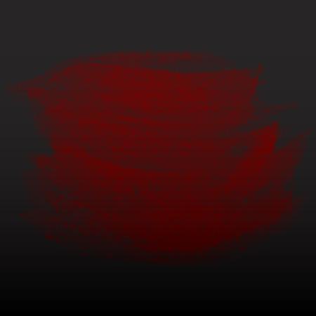 Grunge watercolor banner on the dark background. Vector illustration. Vector
