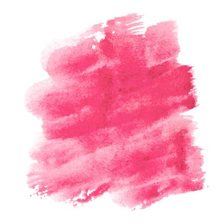 Crimson red watercolor backdrop for web commercial. Vector illustration. Ilustração