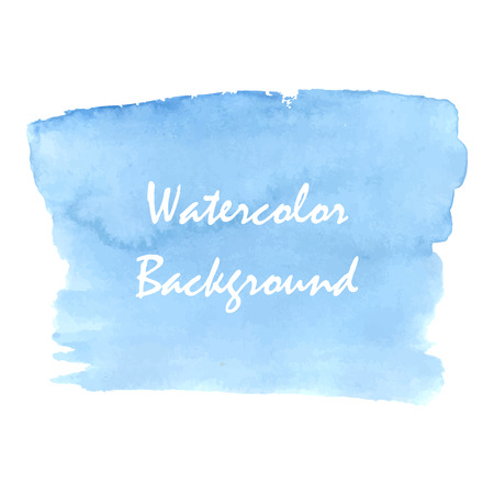 Blue aquarelle background design. Illustration made in vector.