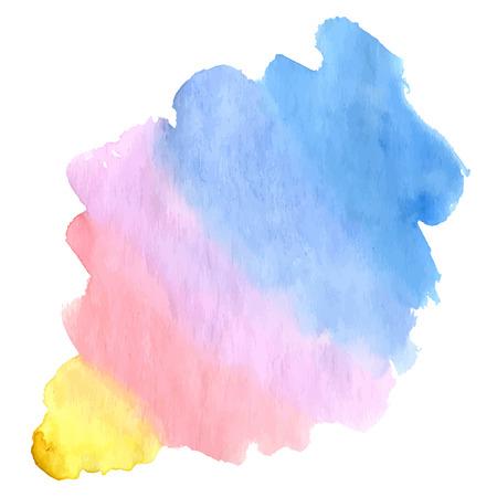 Wrong rainbow watercolor bacground design. Vector illustration. Иллюстрация