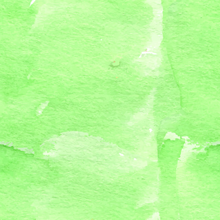 Bright summer green tone watercolor seamless background. Vector illustration.