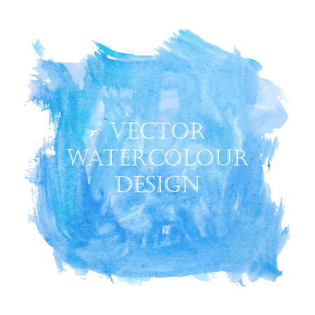 Cute sky watercolor child-like hand drawing banner design for scrapbooking. Vector illustration.