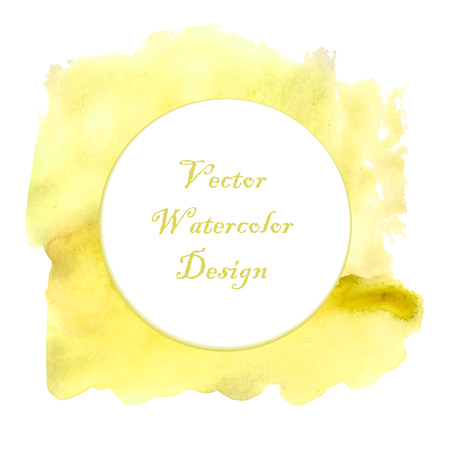 Yellow watercolor frame design for your project design. Illustration made in vector. Vector