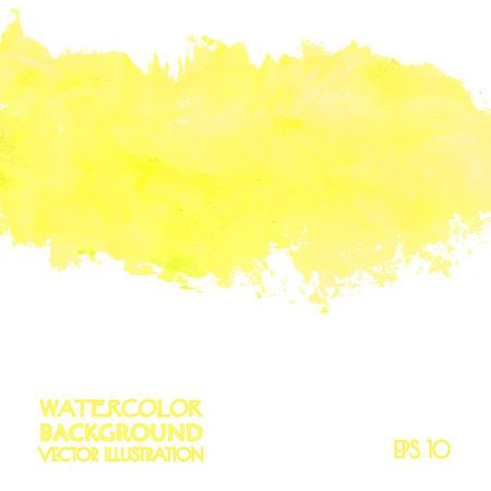 Gele banner voor web design. Vector illustratie. Stock Illustratie