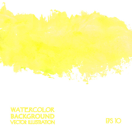 splatter: Yellow banner for web design. Vector illustration.