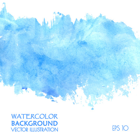 a stain: Light water blue watercolor banner Illustration