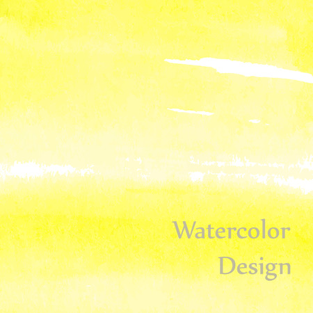 Light and bright yellow watercolor Çizim