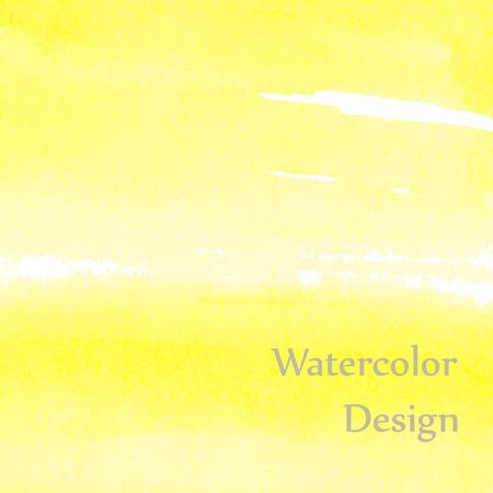 Light and bright yellow watercolor Ilustração