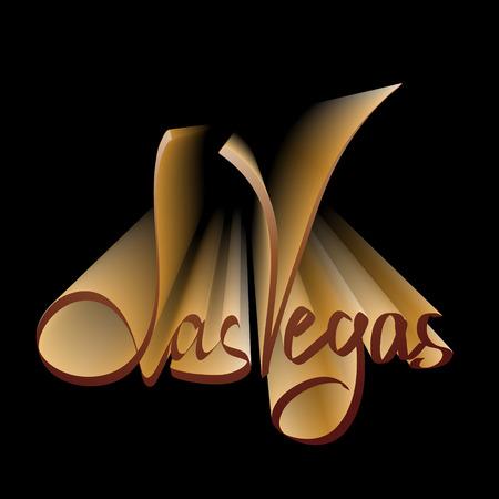 vegas strip: Las Vegas lettering for casino posters Illustration