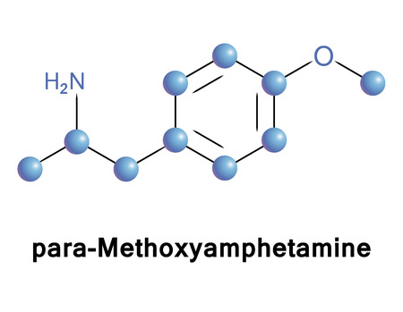 bioscience: Para-Methoxyamphetamine Illustration
